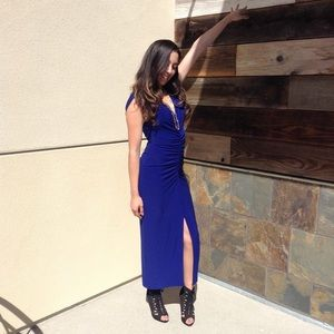 NORMA KAMALI Royal Blue Long Dress/Evening Gown